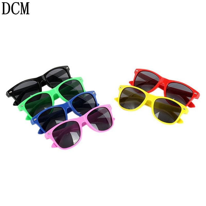 0b72696651 Vintage Boys Girls Sunglasses Children Cute Safety Coating Glasses UV 400  Protection Fashion Shades oculos de