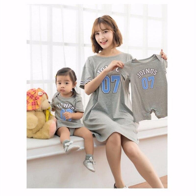 2018 New Summer Pregnancy Dresses Nursing Fashion Word Printed Mother Short Dresses Baby Girl Short Wear Dress Free Drop Ship