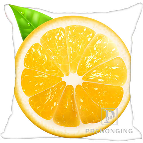 Clever Custom Pillowcase Cover Fruit Style Square Zipper Pillow Cover Print Your Pictures 20x20cm,35x35cm one Side 171203#02-01 High Quality Goods