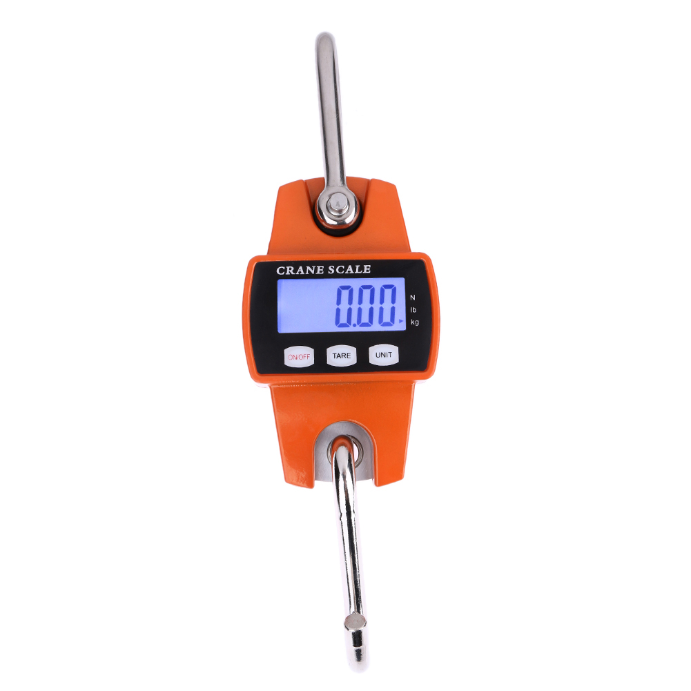 300kg/600lb Portable Mini Industrial Digital Crane Scale LCD Digital Electronic Scales Heavy Duty Hanging Weight Hook Scales 5400 lb 2500kg 8 200mm long wide crane bags lifting carrying hook