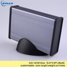 Aluminum enclosure extruded DIY junction box handheld electronic project box outlet switch desktop enclosure 140*96*33mm цена 2017