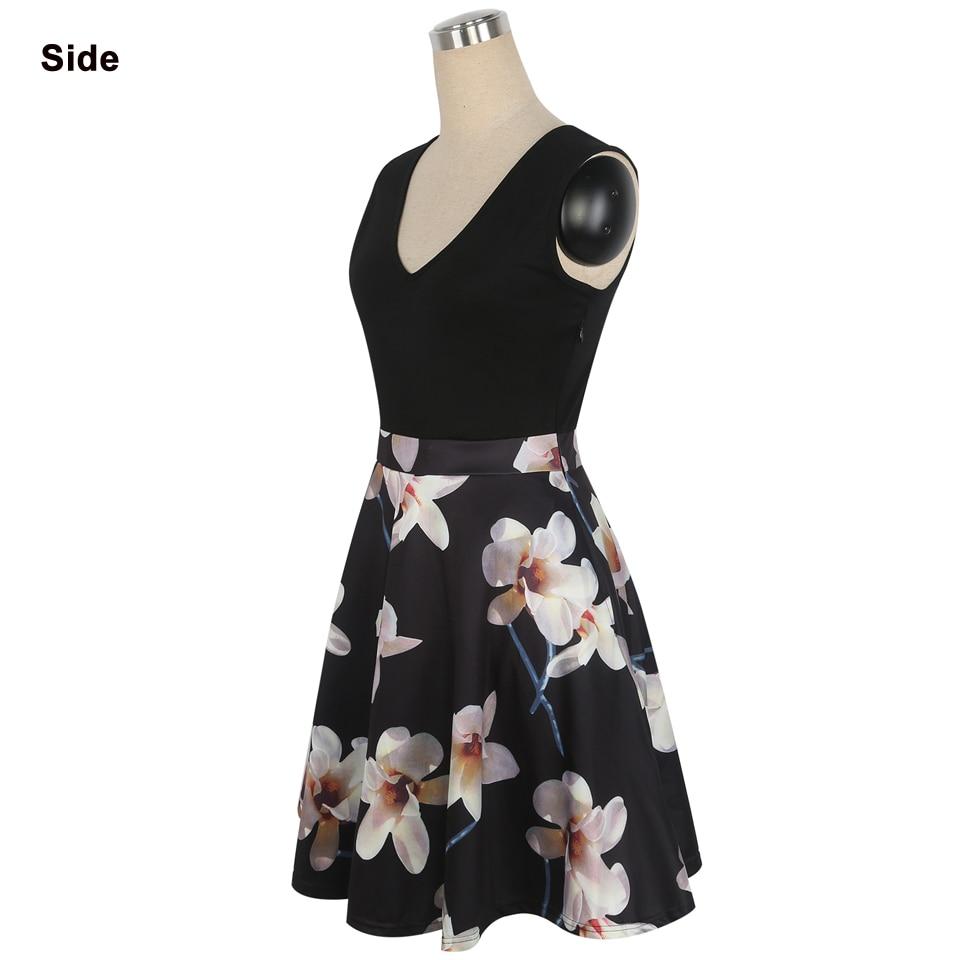 Oxiuly Әйелдер Vintage 1950s style Dress Floral Басып - Әйелдер киімі - фото 3