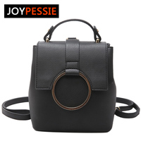 JOYPESSIE Women Leather Backpack Zipper Big Shoulder Bag Simple School Bags For Girls Multifunction New Female