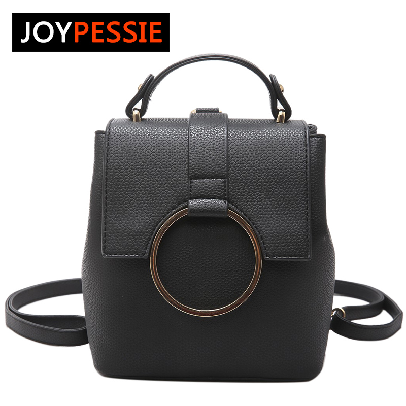 JOYPESSIE Women Leather Backpack Zipper Big Shoulder Bag Simple School Bags For Girls Multifunction New Female Backpack