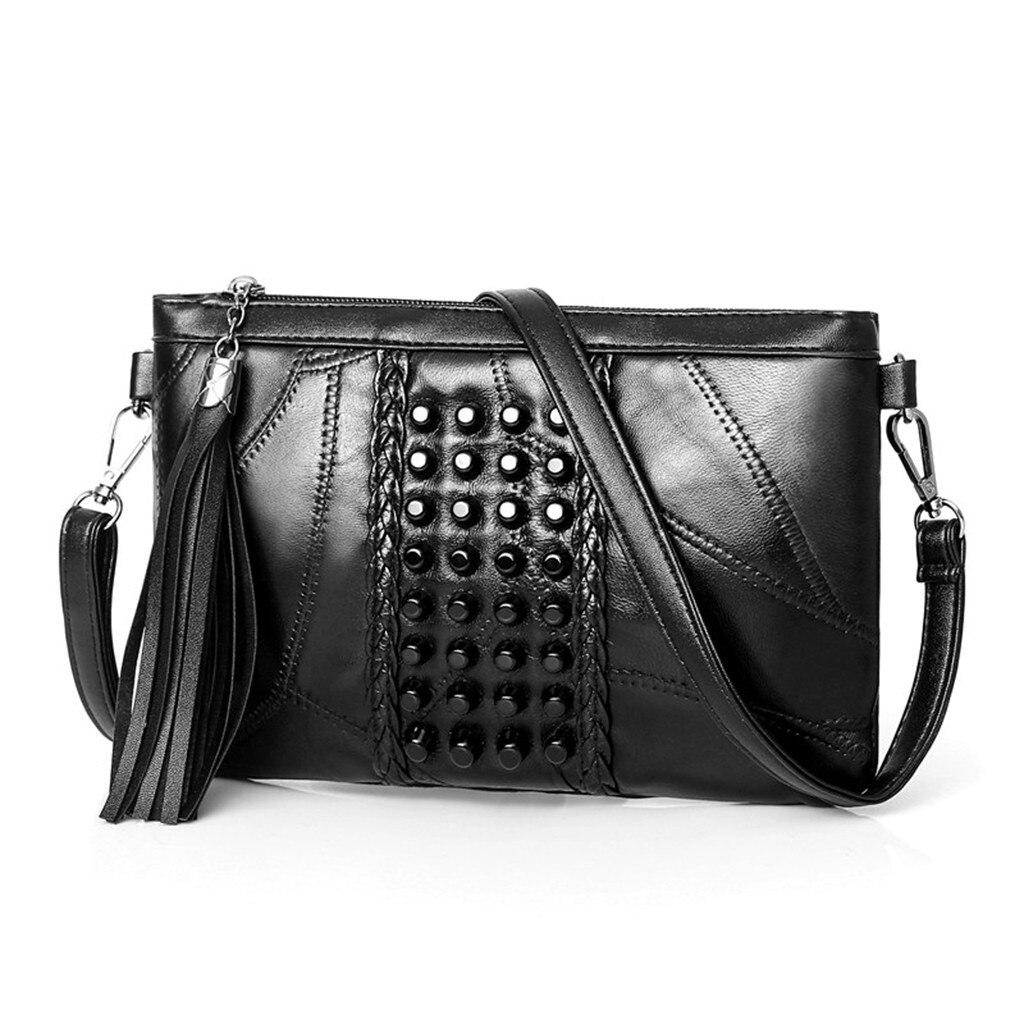 Waist Bags Fanny Pack Leather Rivets Wristlet Small Handbags Ladies Crossbody Shoulder Messenger Handbag Waist Pack Laser Chest