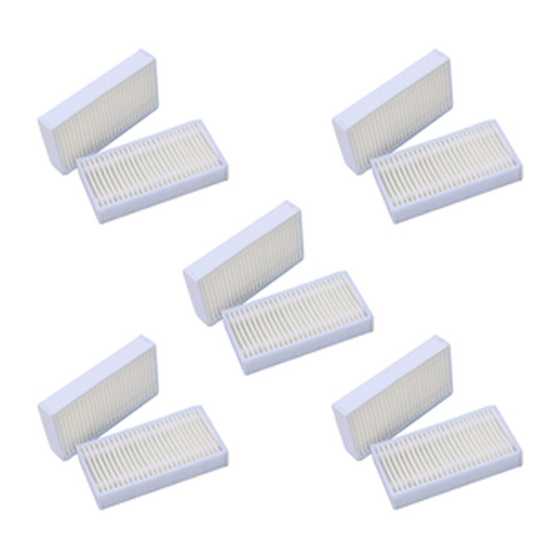 10pcs Attachment Dust Mesh Filters Set For Conga 950 Series Robotic Vacuum Cleaning Accessories Household Appliances Parts