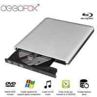 Deepfox Aluminium Blu Ray Drive Slim USB 3.0 Bluray Burner BD RE CD/DVD RW Writer Play 3D 4K Blu ray Disc For Laptop Notebook