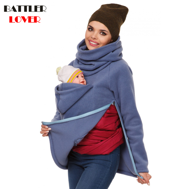 Parenting Baby Carrier Mother Kangaroo Hoodies Women Autumn Thick Hoodies  Sweatshirt Woman Hooded Sweatshirts Fleece Outerwear 07dafe98e4