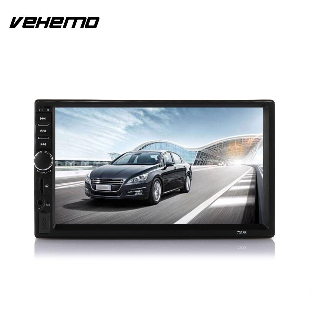 VEHEMO Car <font><b>MP5</b></font> Player Bluetooth Touch Screen 7Inch HD <font><b>7018B</b></font> Without Camera Reverse Monitor Hands-Free FM Radio image