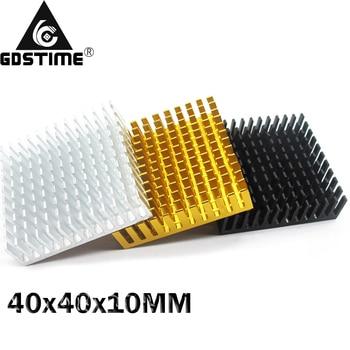цена на 500Pcs Gdstime 40*40*10mm Computer Cooler Radiator Aluminum Heatsink Heat sink for Electronic Chip Heat