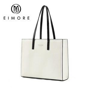 Image 2 - EIMORE 大容量ハンドバッグ女性の本革ビッグトートバッグ女性のショルダーバッグシンプルな女性の高級ブランドバッグ