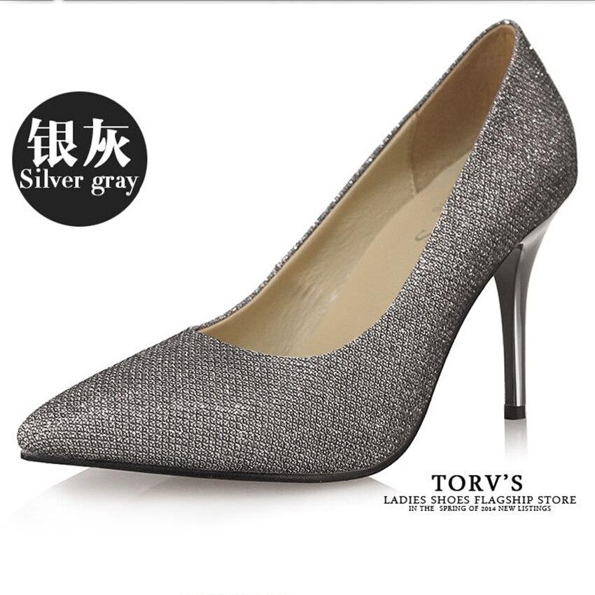 ФОТО 2017 New Fashion Sexy Women Silver Rhinestone Wedding Shoes Brand Pumps  High Heels Crystal Shoes Gold