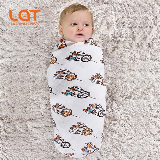 2pcs Lot Lat Baby Receiving Blanket 47 X47 70 Bamboo 30 Cotton