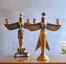 Hand painting Golden Resin Isis Figurine Ancient Egypt Goddess Model Classic Decoration Resin Figurines Craft Wine Rack Statue