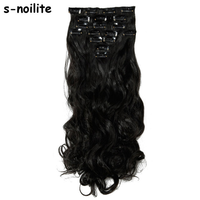 S Noilite Extra Thick 175g 8 Piecesset Full Head Clip In Hair