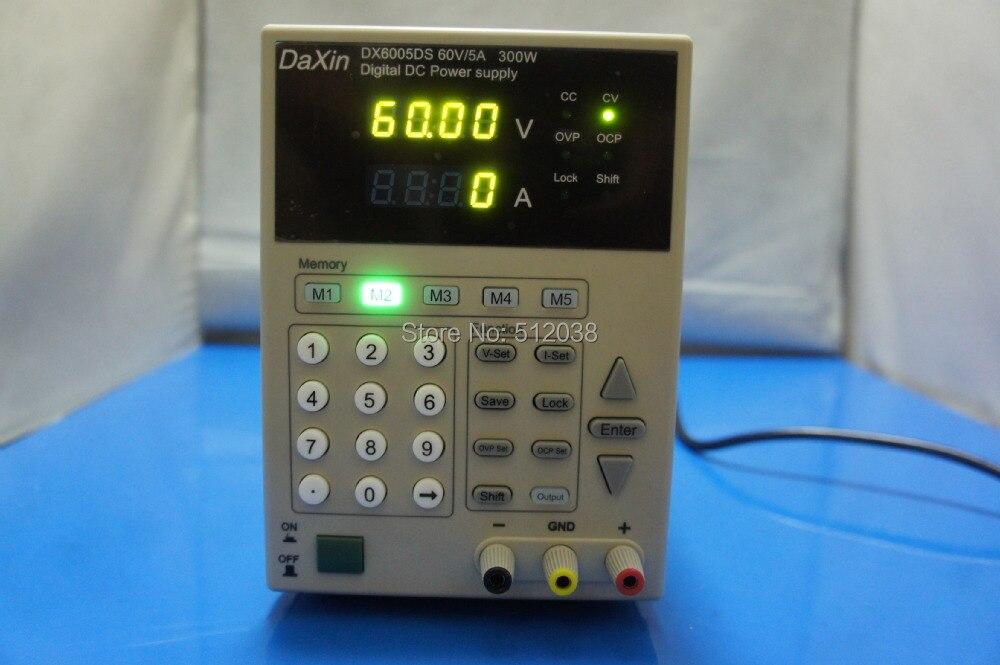 Nouveau contrôle numérique Programmable DC alimentation-60 V/5A DX6005DS 110 V/220 V