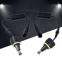 2PCS DC 12V Car LED Angel Eye Light Headlight For BMW E92 Accessories 40W