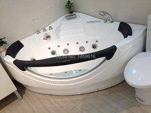 1400X1400 мм треугольный пузырь серфинг ванна, подходит для использования в джакузи Стекловолоконная обшивочная угловой двойной людей Массажная ванночка W4016