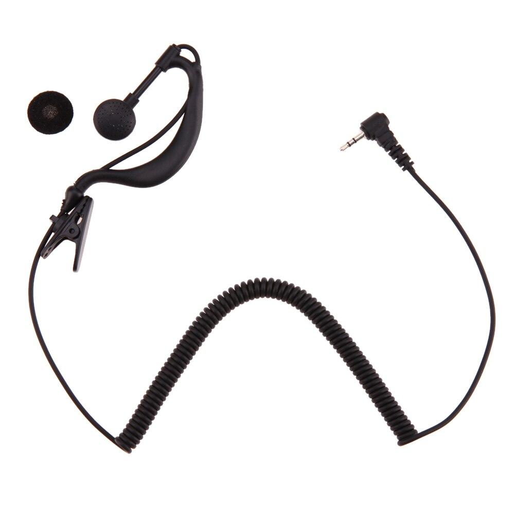 2.5mm G-Hook Interphone Earpiece Earphone Walkie Talkie Single Ear Headphone 1 Pin Only for Listening for Motorola/ICOM owner pin hook черный хром 04