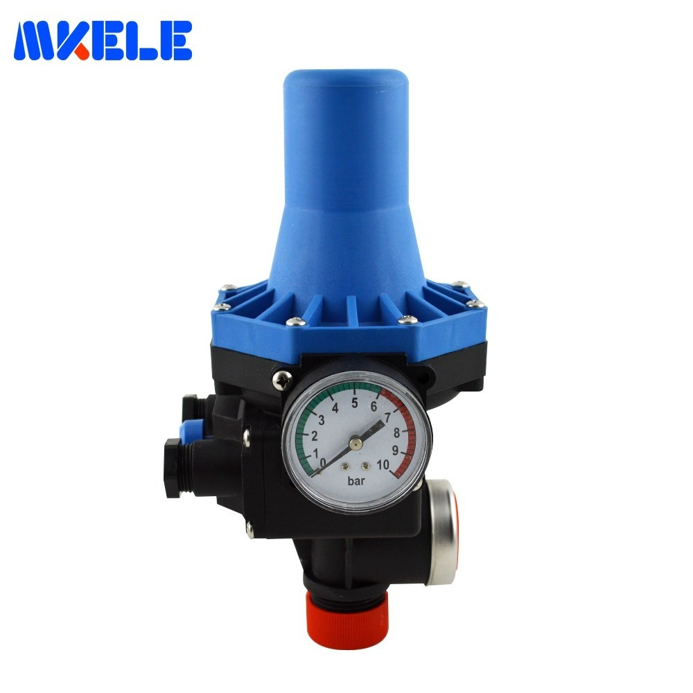 цена на Adjustable Water Pressure Switch Valve Automatic Electric Electronic Control for Water Pump 220v MK-WPPS08 G1 Connection thread