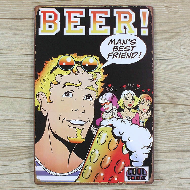 Beer Coke Metal Tin Signs Sticker Decorative For Wall Vintage Decor Metal Plaques Jh 00349