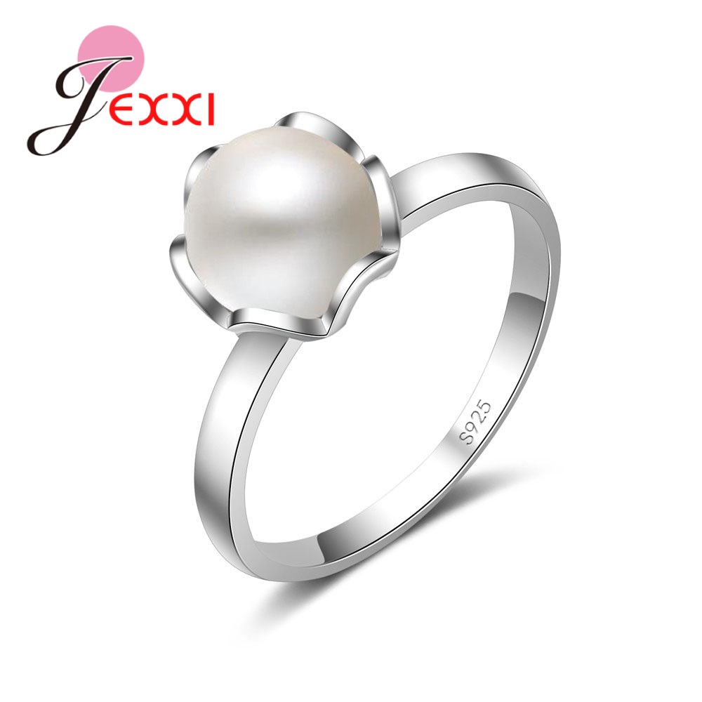 Elegant 925 Sterling Silver Jewelry Wedding Engagement Ring Round Pearl Exquisite Anillo Fine Fashion Party Gift For Women Buy At The Price Of 2 70 In Aliexpress Com Imall Com