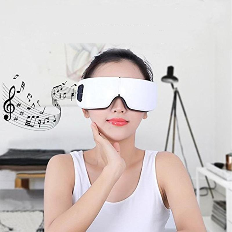 High Quality Wireless Electric Eyes Massager Heating Therapy Air Pressure Music Eye SPA Eyes massager Magnetic Heating Massage