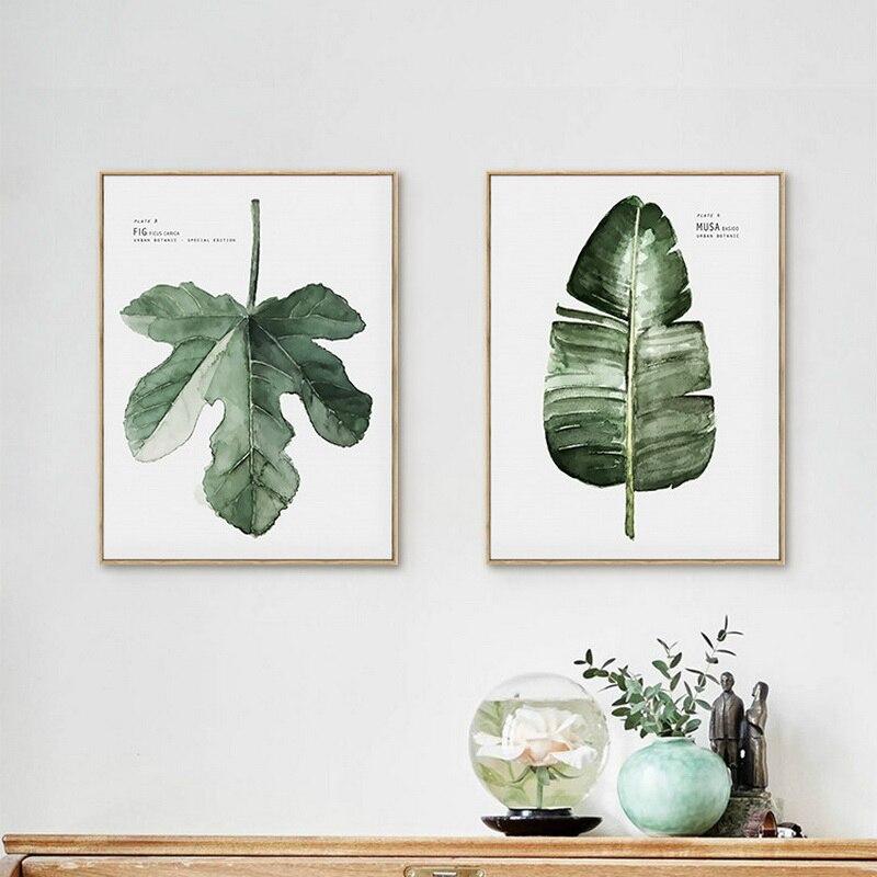Subtropická rostlina Plátno na malování na zeď Obrázek vánoční ozdoby pro domácí olejomalbu pintura Bild beeld Doprava zdarma