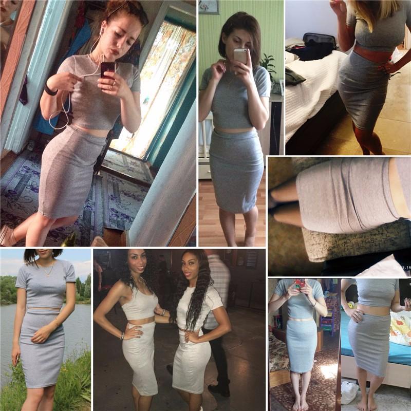 Swaggy HTB1yfrBOFXXXXcEXXXXq6xXFXXXs Ausgehkleid Partykleid zweitteiliges Outfit - grau