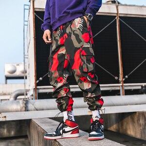 Image 2 - Мужские камуфляжные брюки карго, уличные штаны шаровары для фитнеса, удобные штаны длиной до щиколотки, модель LBZ44, 2020
