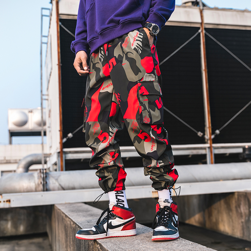 Image 2 - 2019 New Men Camouflage Cargo Pants Men Street Harem Pants Fitness Runners Trousers Comfortable Ankle Length Sweatpants LBZ44-in Harem Pants from Men's Clothing