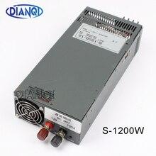 1200W 12V 100A แหล่งจ่ายไฟสวิทช์สำหรับไฟ LED Strip AC ถึง DC แหล่งจ่ายไฟอินพุต 110 V 220 V 1200W S 1200 12 72V 48V 72V 24V