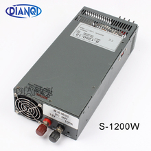 1200W 12V 100A Switching power supply for LED Strip light AC to DC power suply input 110v 220v 1200w S 1200 12 72V 48V 72V 24V