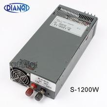 1200W 12V 100A zasilacz do taśmy LED światło AC do zasilania prądem stałym wejście 110v 220v 1200w S 1200 12 72V 48V 72V 24V