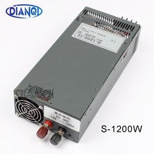 Image 1 - 1200W 12V 100A zasilacz do taśmy LED światło AC do zasilania prądem stałym wejście 110v 220v 1200w S 1200 12 72V 48V 72V 24V