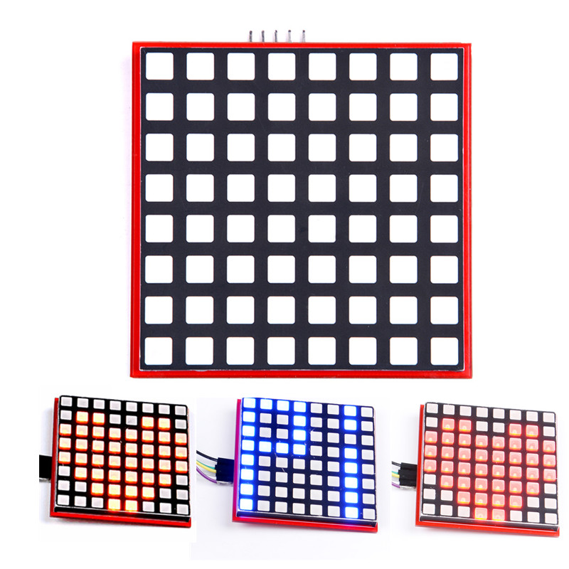 LED Full Color 8*8 Dot Matrix Screen For Raspberry Pi 3/2/B+ RGB LED Display Board 8x8 RPI-RGB-LED-Matrix