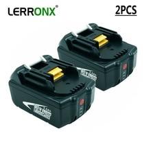2 шт. BL1850 BL1830 аккумуляторная батарея 18 V 5A литий ионный аккумулятор с светодиодный свет для Makita LXT400 194204-5 194230-4 Замена батареи
