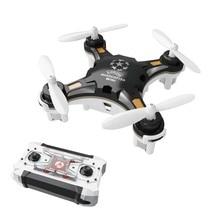 Drone de bolsillo de cuatro ejes avión Mini UAV portátil multijuego Mini control remoto juguetes LED luces helicóptero