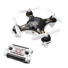 Drone de poche avion à quatre axes Mini aéronef sans pilote (UAV) Portable multi play Mini télécommande jouets LED lumières hélicoptère