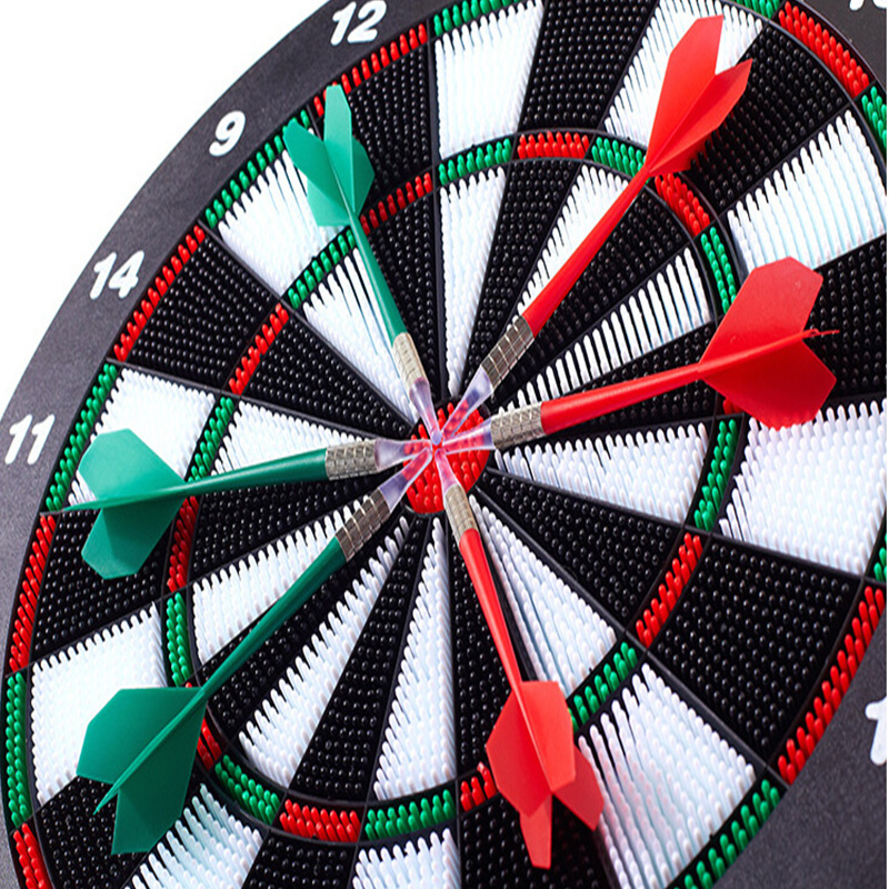 16 Inch Darts Board Security Soft Dart Board Dart Target Soft Head Flying Standard Set Fitness Belt With Six Pieces Copper Darts rowsfir dart board 6 darts set funny play dartboard soft head darts board game toy fun party accessories gambling new year gift