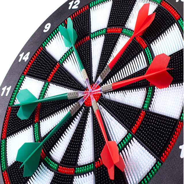 16 Inch Darts Board Security Soft Dart Board Dart Target Soft Head Flying  Standard Set Fitness Belt With Six Pieces Copper Darts 4aeeb498a11
