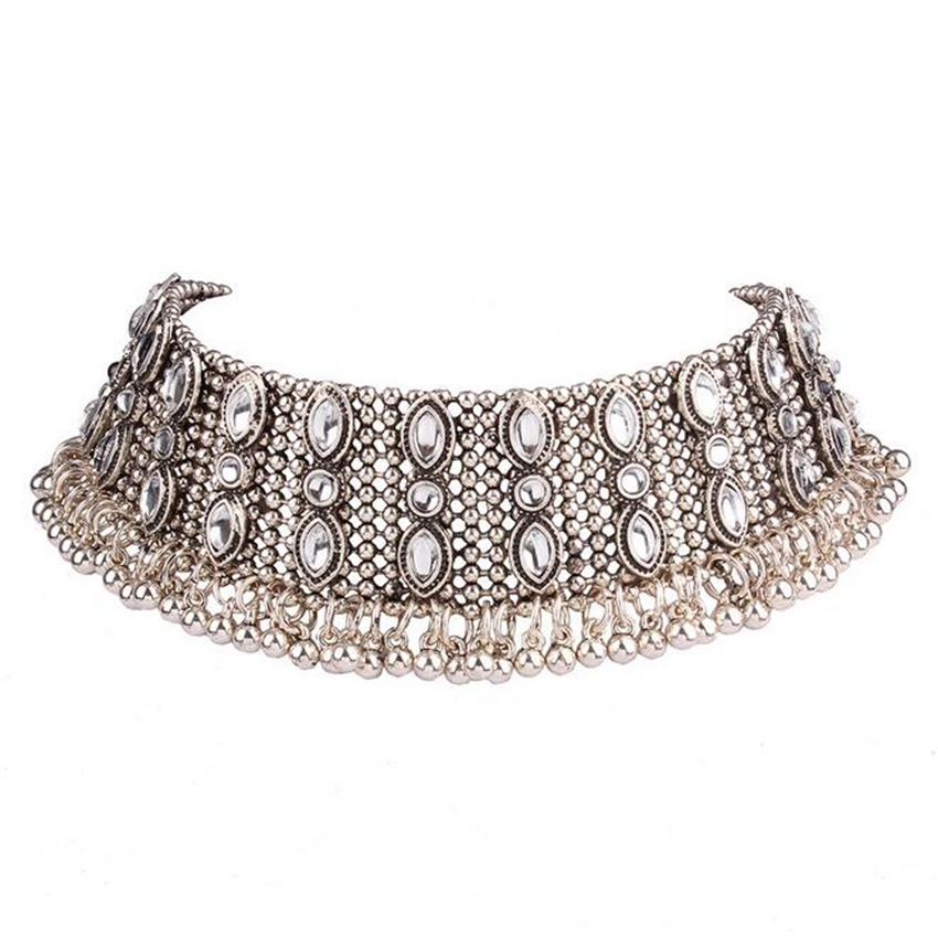 silver necklace choker (2)
