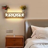 Nordic led wood wall lamps bedside lamp wall lamp bedroom modern minimalist decoration lamp lighting logs wall light ZA8242