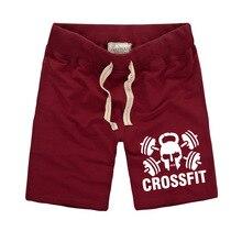 100% Cotton Men's Short Trousers Casual Calf-Length Jogger Mens Shorts Sweatpants crossfit Fitness Man Workout Short