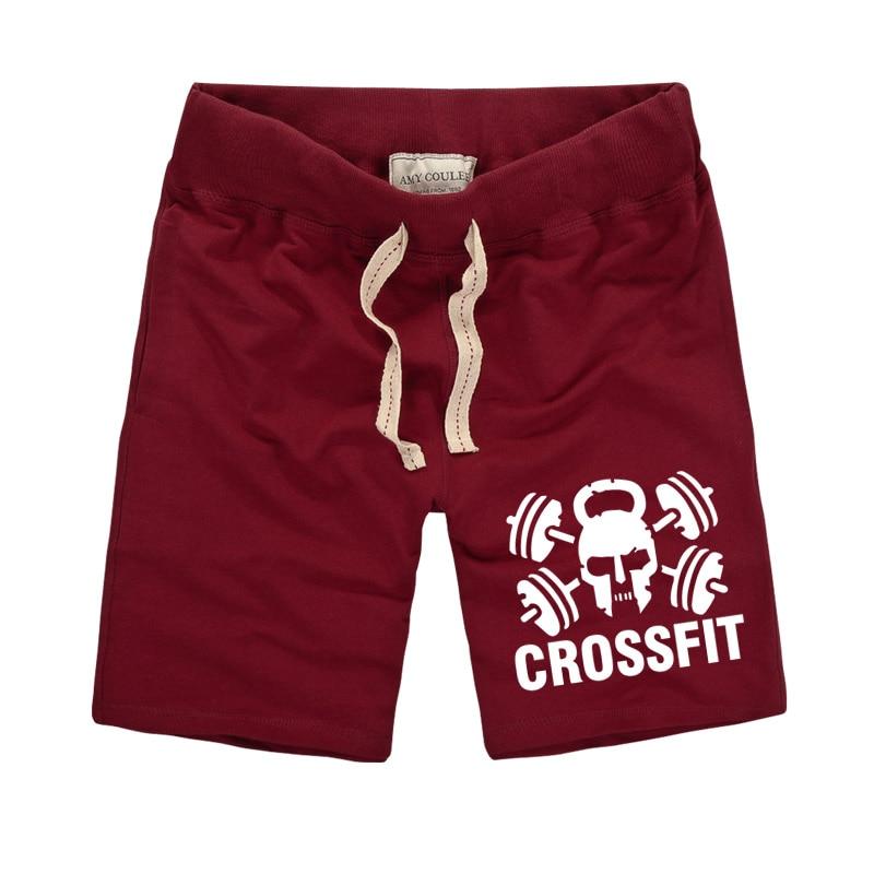 100% hombres del algodón pantalones cortos pantalones para hombre Pantalones cortos para hombre Pantalones crossfit impresión Fitness Man Workout Shorts 3XL