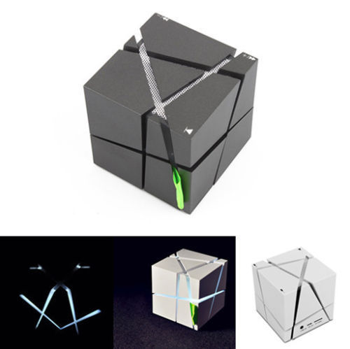 lofree qone7 edge portable mini bluetooth speaker with led mp3 player and built-in 500mah battery