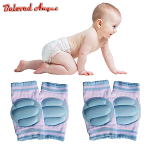 1 Pair Baby Knee Protection Pads Cotton Harnesses Leashes Safety Crawling Elbow Cushion Kids Knee Protectors Children Clothing
