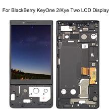 Para blackberry key2 display lcd tela de toque digitador assembléia key2 tela com moldura para blackberry key 2 tela lcd keytwo
