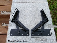 2Pairs Lot Flap Mechanism Lift Up For Furniture Bed Cabinet Sofa