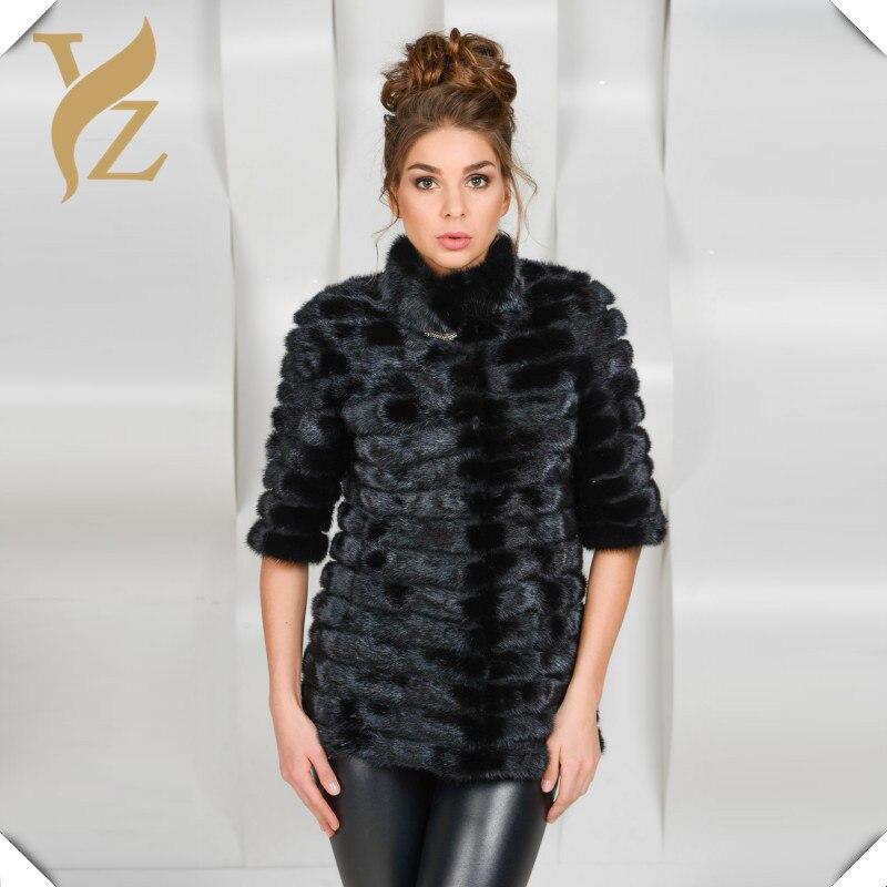 D'hiver Manteau Fourrure Manteaux Unique Chaud Femmes Taille Naturelle De 2018 Black Personnalisés Vison Vêtements Design Réel Pour Doux Femelle pBPxHXnwq0